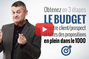 technique de vente budget