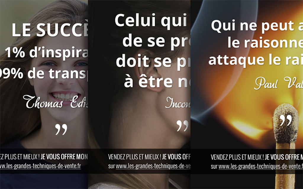 citation motivation réussite commercial