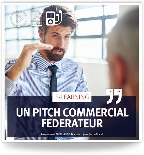 Elearning commercial Pitch commercial federateur