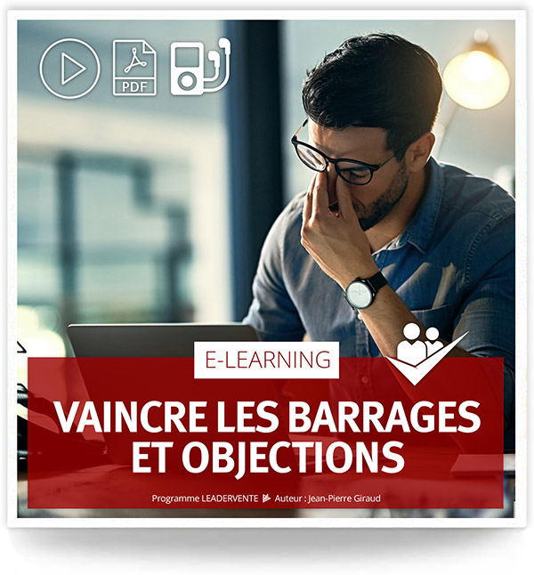 Elearning commercial Vaincre barrages objections